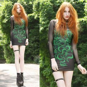 Cthulhu Bodycon Dress M Blackmilk Rare
